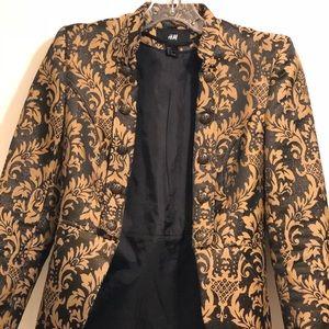 Gold detailed blazer